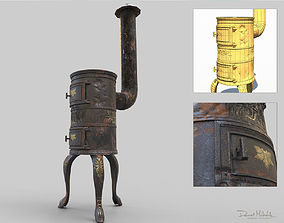 3D model Old Stove Low Poly PBR