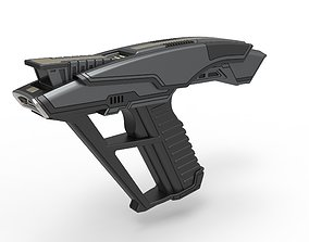 Starfleet Hand Phaser from Star Trek 3D printable model 2