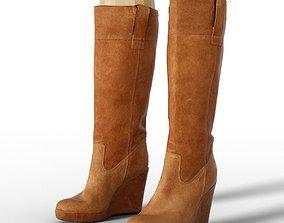 Boot Brown Sleeve Footwear Women 3D asset