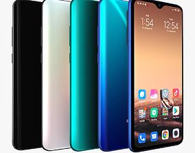 Xiaomi Redmi Note 8 Pro with 4 colors 3D