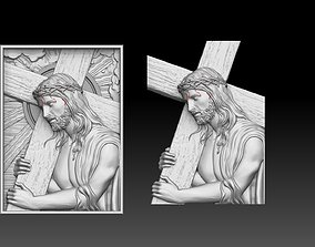 Jesus Carrying The Cross cnc model bas relief
