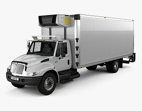 International Durastar 4300 Refrigerator Truck 3D model