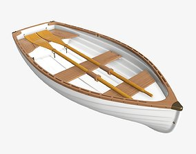 3D model Traditional rowing boat 03 v1