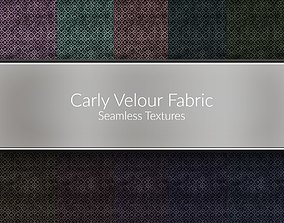 Carly Velour Fabric Seamless Textures Set 3D model
