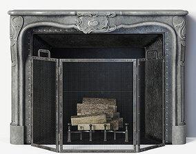 Regency Style Stone Fireplace 3D model