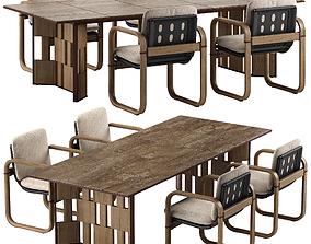 Giorgetti Loop chair Break table set 3D