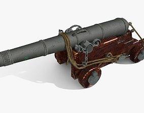 3D model XVIIIh century navy gun