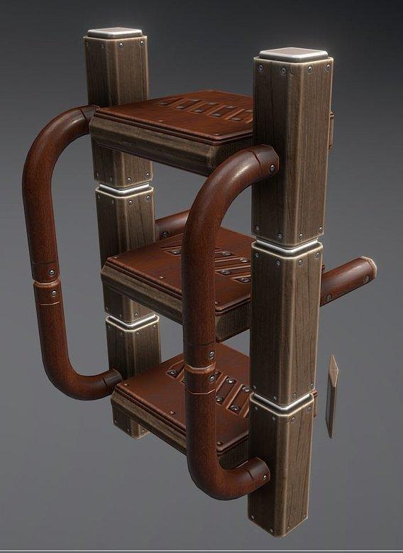 Modular Wood Sci-Fi Ladders