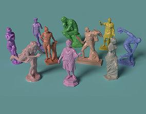 Polygonal Classic Statues 10 printable models
