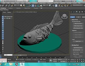 Artificial fish figure for 3D print