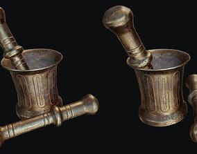 3D asset Copper Mortar