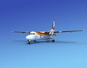 3D model Fokker 50 Iberia