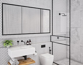 3D Bathroom Set 3 toilet