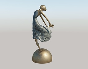 3D model Statue of a dancing lady balerina