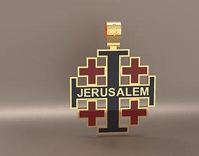 3D printable model Cross Jerusalem