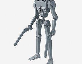 3D model Gunner Robot