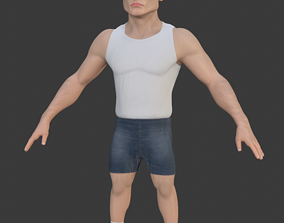 Stylized Man RIGGED 3D asset