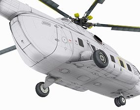animated Mil Mi-17 3D model