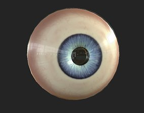 3D asset VR / AR ready Eyeball body