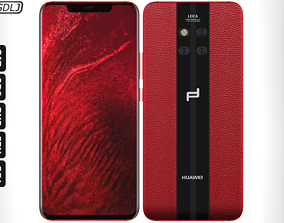 Huawei Mate 20 RS Red 3D model