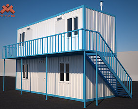 Shipping Container House 2 story house 3D model