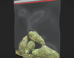 Weed Bag 3D asset