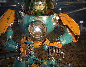 Pilot Boy and Mecha 3D model