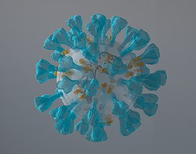 animated Corona Virus 3d