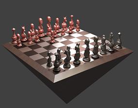 3D print model African Minimalist Chess Set