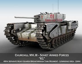 3D model Churchill MK III - 61 - Soviet Army