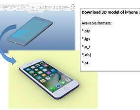 3D iPhone 7 - original dimensions