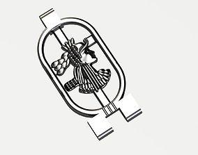silver 3D printable model Egyptian god