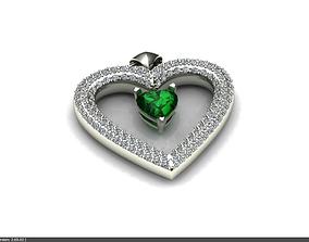 3D model Pendants a heart