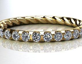3D print model Eden Eternity Wedding Band Diamonds