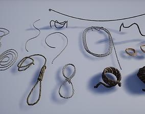 Set of Various Medieval Ropes 3D asset