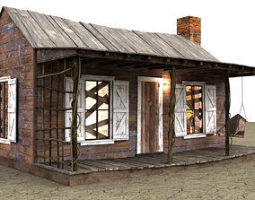 3D model game-ready Evil Dead Cabin