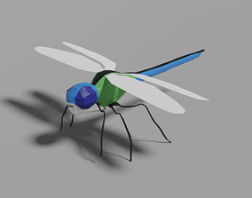 3D model Low-poly Dragonfly