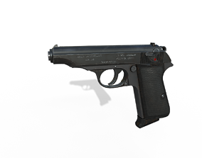 Walther PP 3D asset