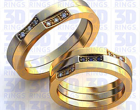3D Wedding rings 581