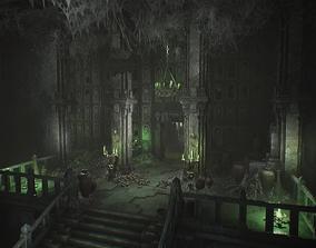 Fantasy Dungeon Ossuary 3D asset