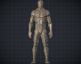 3D asset Man Basemesh Idealized Proportions and Skeleton