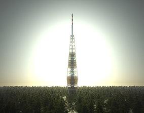exterior TV tower Bratislava 3D