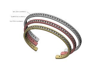 Simple diamond cuff bracelet 3D printable model