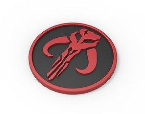 3D printable Mandalorian logo