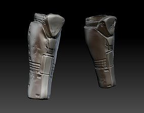 predator 1 inspired shin armour 3D printable model