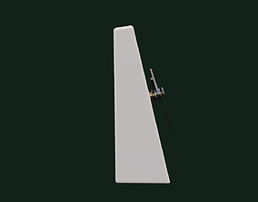 3D model animated Clock