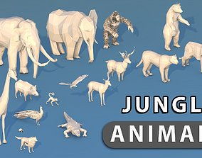 Jungle Animals 3D model game-ready