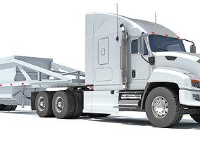 Truck with Bottom Dump Trailer 3D