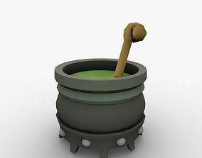 boiler kettle cartoon pot 3D model