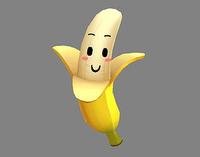 Cartoon banana mascot 3D model
